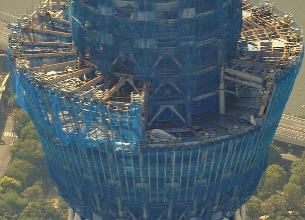 東京スカイツリー展望台工事風景