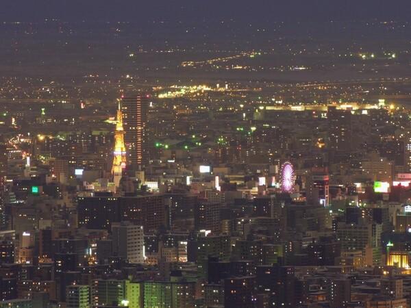 札幌の冬夜景