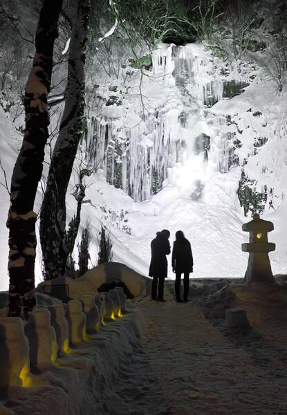 玉簾の滝 ライトアップ