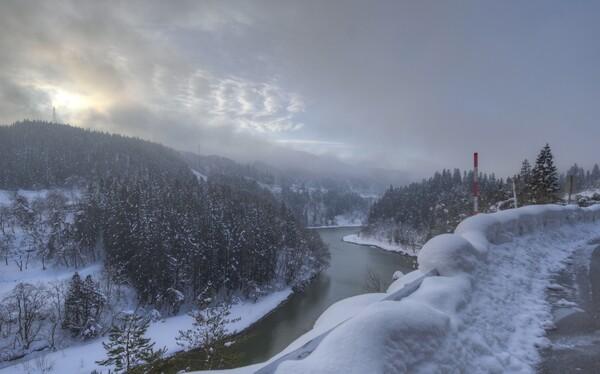 冬の最上川 1