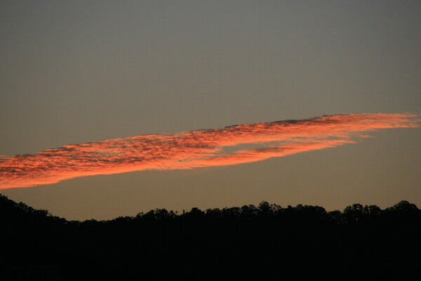 朝焼け雲はるか