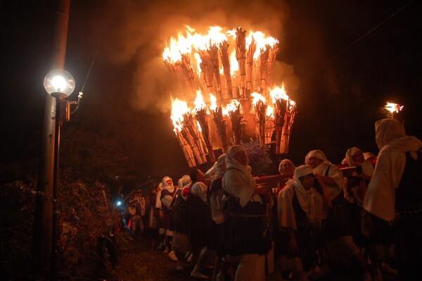奇祭火祭り(火炎神輿)僧兵祭り