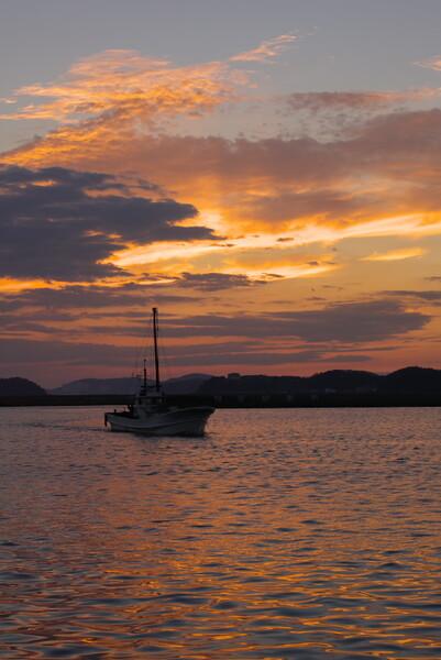 夕方の三河湾