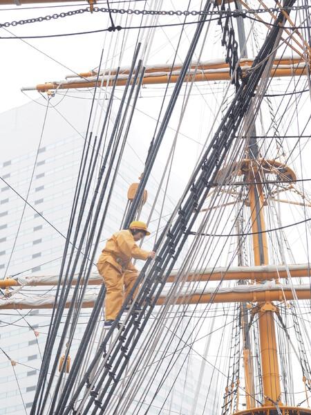 帆船 日本丸(初代)練習風景4