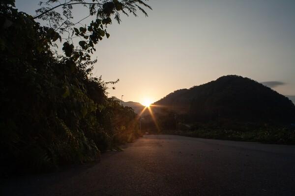 快晴の朝日の出!