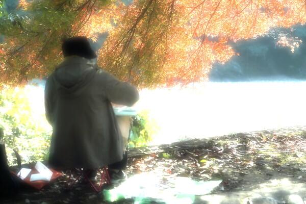 秋を描く女(ひと)