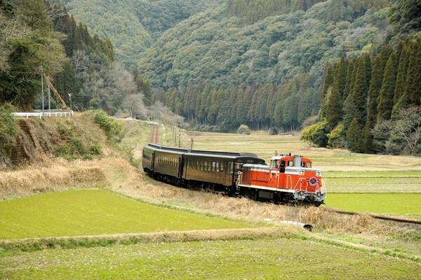 なつかしい風景を走る列車