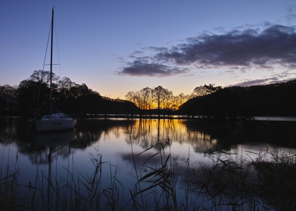 湖畔の夜明け 猪苗代