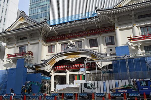 歌舞伎座工事風景
