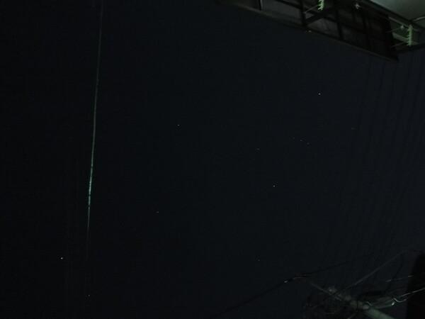 星が写る・・・