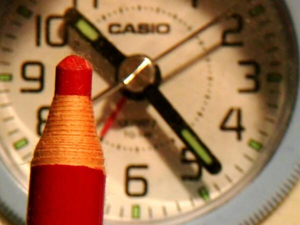 10時23分の色鉛筆