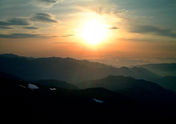 乗鞍岳からの朝日