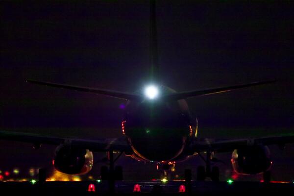 夜のフライト