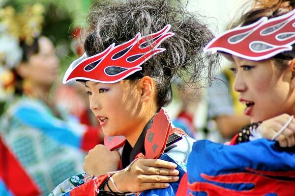 【夏の日】 どまつり踊り子 2