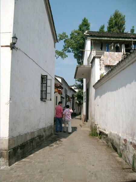 八卦村の路地裏