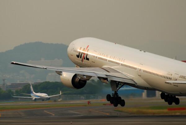 飛行機初体験。