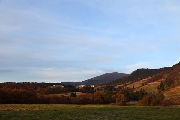 牧歌的高原風景