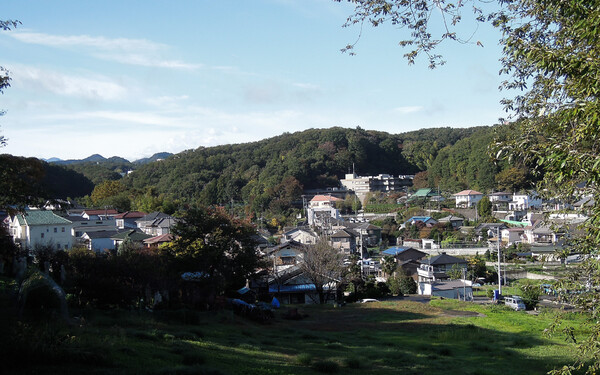山あいの町