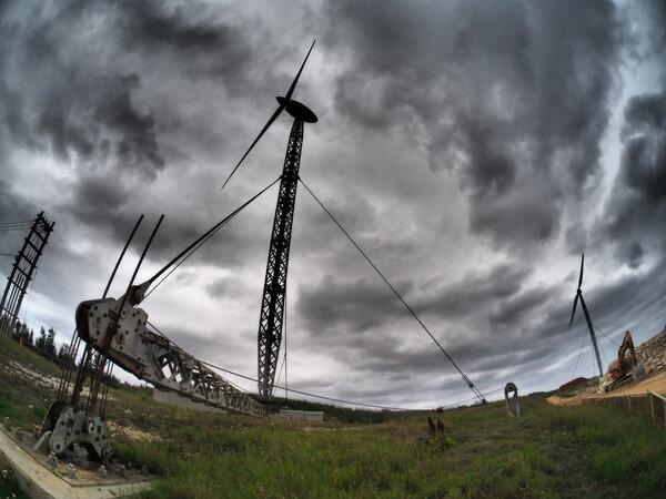 可倒式風力発電機